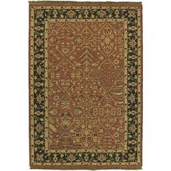 Hand-knotted Sangli Wool Rug (6' x 9')