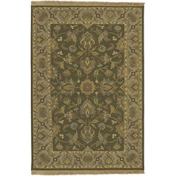 Hand-knotted Soumek Wool Rug (6' x 9')