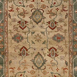 Hand-knotted Park Ave Wool Rug (8' x 11')