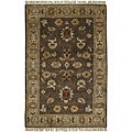Hand-knotted Green Southwestern Park Ave New Zealand Wool Rug (8' x 11')