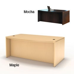 Mayline Aberdeen 72-inch Laminate Bow Front Desk Shell