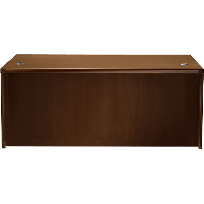 Mayline Aberdeen 66-inch Cherry Straight Desk Shell