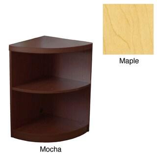 Mayline Aberdeen Quarter-Round Mocha Bookcase