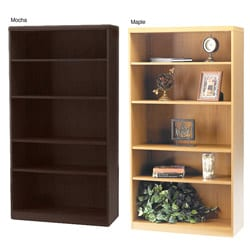 Mayline Aberdeen 5-shelf Laminate Bookcase