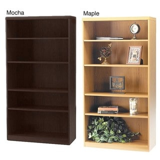 Mayline Aberdeen 5-shelf Laminate Bookcase
