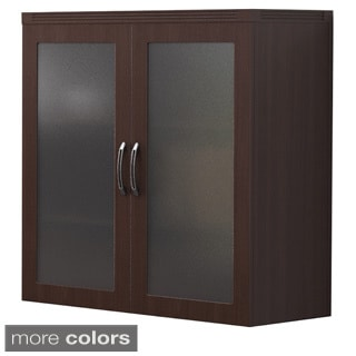 Mayline Aberdeen Laminate and Glass Storage Cabinet