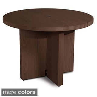 Mayline Aberdeen 42-inch Mocha Round Conference Table