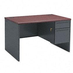 Steel HON 38000 Series Right Pedestal Desk