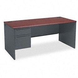HON 38000 Series 66-Inch Wooden Left Pedestal Desk