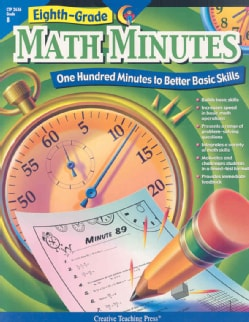 Eighth-Grade Math Minutes: One Hundred Minutes to Better Basic Skills (Paperback)