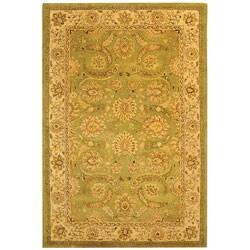 Safavieh Handmade Old World Light Green/ Ivory Wool Rug (6' x 9')