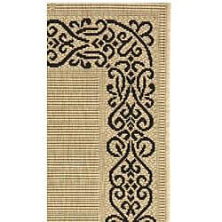 Safavieh Indoor/ Outdoor Ocean Sand/ Black Rug (2' x 3'7)