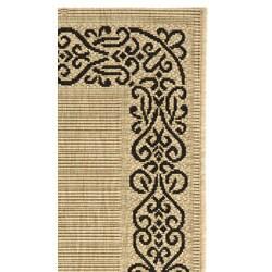 Safavieh Indoor/ Outdoor Ocean Sand/ Black Rug (2'7 x 5')