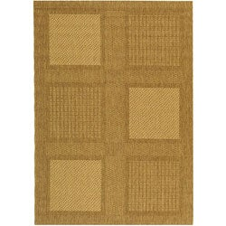 Indoor/ Outdoor Lakeview Brown/ Natural Rug (6'7 x 9'6)
