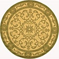 Indoor/Outdoor Beaches Natural/Olive Polypropylene Rug (6'7 Round)