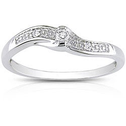 Miadora 10k White Gold Diamond Promise Ring (K-L, I2)