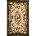 Safavieh Hand-hooked Rooster and Hen Cream/ Black Wool Rug (5'3 x 8'3)