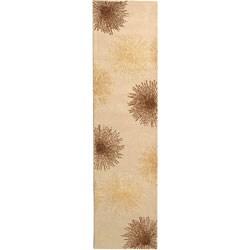 Safavieh Handmade Soho Burst Beige New Zealand Wool Runner (2'6 x 12')