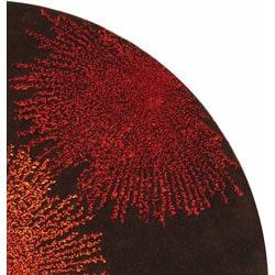 Safavieh Handmade Soho Burst Brown New Zealand Wool Rug (6' Round)