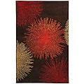Handmade Soho Burst Brown New Zealand Wool Rug (8'3 x 11')