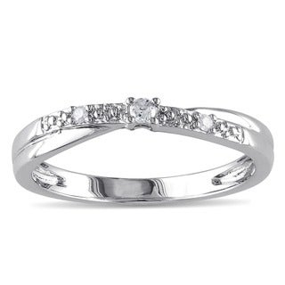M by Miadora 10k White Gold Diamond Promise Ring (K-L, I2-I3)