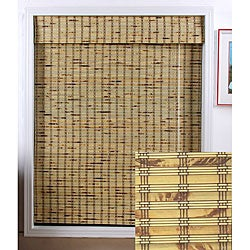 Rustique Bamboo Roman Shade (64 in. x 74 in.)