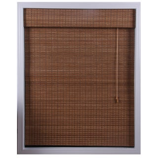 Ginger Bamboo Roman Shade (74 in. x 74 in.)