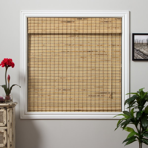 Mandalin Bamboo 54-inch Long Roman Shade