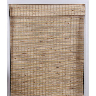 "Mandalin Bamboo Roman Shade 74"" Length"