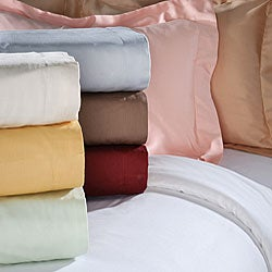 Luxor Treasures Egyptian Cotton 300 Thread Count Solid 3-piece Duvet Set