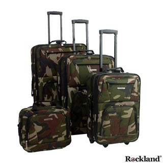 Rockland Deluxe Camouflage 4-piece  Luggage Set