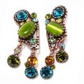 Sweet Romance Jellybean Jazz Retro Clip On Earrings