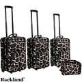 Rockland Deluxe Giraffe 4-piece Expandable Luggage Set