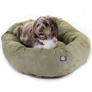 Bagel Donut 52-inch Machine-washable Extra-large Faux-suede Pet Bed