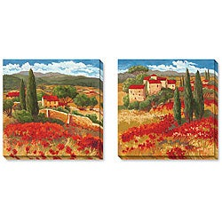Gallery Direct Cecile Broz Season in Red Gallery-wrapped Art Set