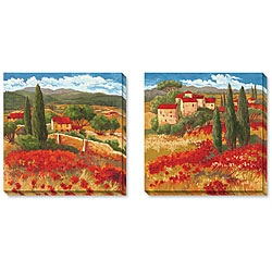 Cecile Broz Season in Red Gallery-wrapped Art Set