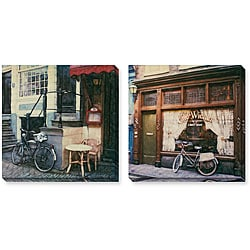 Rodriguez 'Prinsengracht and Cafe Wiener' Gallery-wrapped Art Set