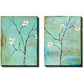 Gunn Dogwood on Turquoise Gallery Wrapped Art Set