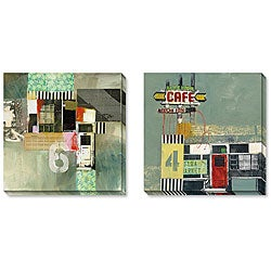 Gallery Direct Brouilette 'Number Six and Flea Market' Gallery-wrapped Art Set