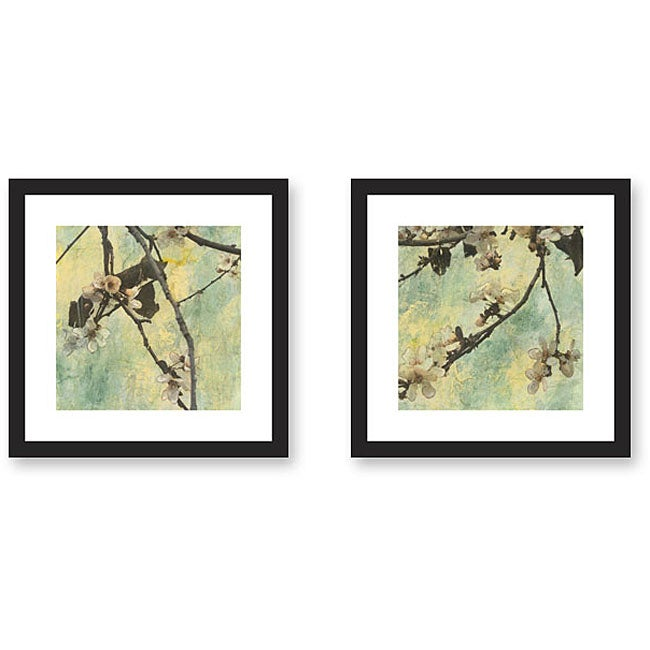 Horses Framed Giclee Print Wall Art With Glass Set Of 2