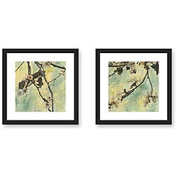 Sara Abbott 'Elation' 2-piece Framed Art Print Set
