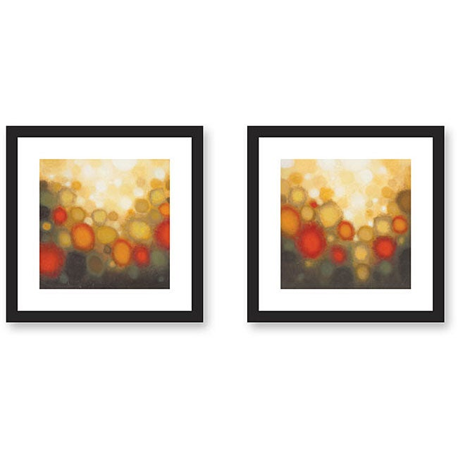 Sean Jacobs 'Garden Party' 2-piece Framed Art Print Set
