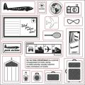 Fiskars 17-piece Clear Rubber Vacation Stamp Set