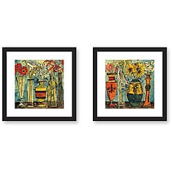 Olivia Maxweller 'Flowers' 2-piece Framed Art Set