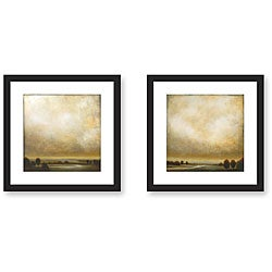 St. John 'Partly Cloudy' 2-piece Framed Art Set