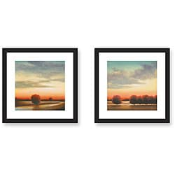 St. John 'Afternoon Meadow' 2-piece Framed Art Print Set
