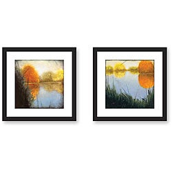 St. John 'Autumn Marsh' 2-piece Framed Art Print Set