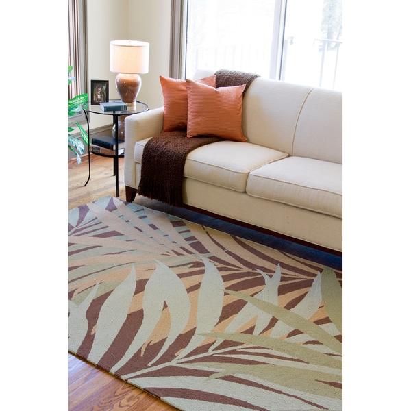 Hand-hooked Tropic Indoor/Outdoor Floral Rug (8' x 10')