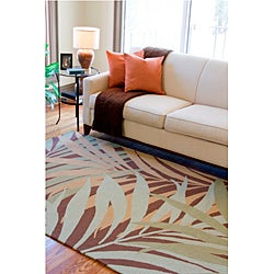 Hand-hooked Tropic Indoor/Outdoor Floral Rug (8' x 10')