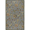 Large Hand-Hooked Tropic Collection Indoor/Outdoor Floral Rug (8' x 10')